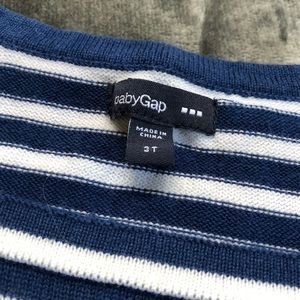 GAP Shirts & Tops - NEW GAP Nautical 3/4 Sleeve Sweater 3T
